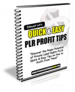 Quick & Easy PLR Profit Tips